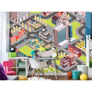 Wall mural For Children: In the City