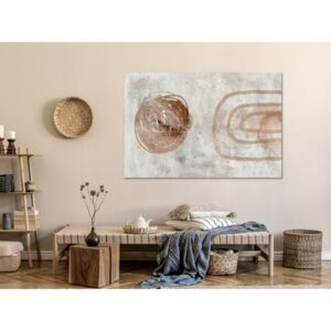 Canvas Print Abstract: Pastel Sun (1 Part) Wide