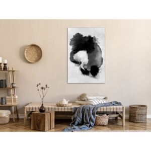 Canvas Print Black and White: Painted By Light (1 Part) Vertical