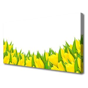 Canvas Wall art Flowers floral yellow 120x60 cm