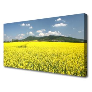 Canvas Wall art Meadow nature yellow 100x50 cm