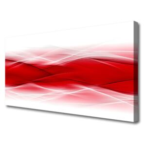 Canvas Wall art Abstract art red orange white 100x50 cm