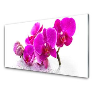 Glass Print Flowers floral pink 100x50 cm
