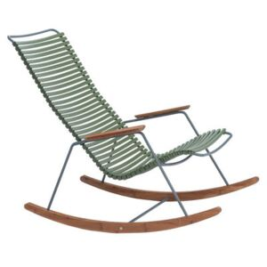 Click Rocking chair - / Plastic & bamboo by Houe Green