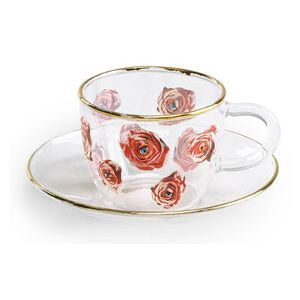 Toiletpaper - Roses Coffee cup by Seletti Multicoloured