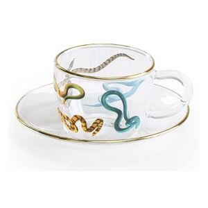 Toiletpaper - Snakes Coffee cup by Seletti Multicoloured