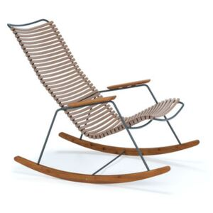 Click Rocking chair - / Plastic & bamboo by Houe Beige