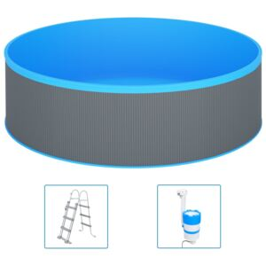Splasher Pool with Ladder and Pump 350x90 cm Grey