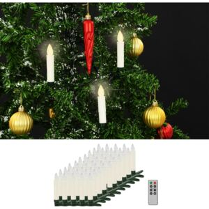 VidaXL Wireless LED Candles with Remote Control 50 pcs Warm White