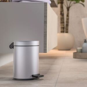 Hailo Pedal Bin Solid S 4L Stainless Steel