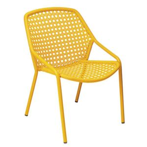 Croisette Stackable armchair by Fermob Yellow