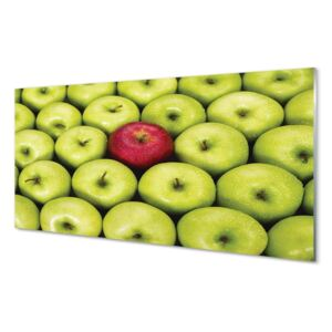 Glass print The green and red apples 100x50 cm