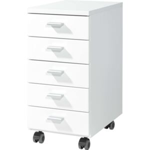 Germania Rolling Filing Cabinet White 4099-84