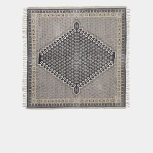 Large Poppy Field Rug - charcoal