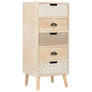 Chest of Drawers with 5 Drawers 40x35x95.5 cm