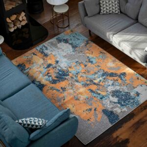 Colourful Vibrant Abstract Large Living Room Rugs   Oscar