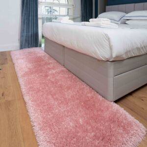 Deluxe Thick Soft Blush Pink Shaggy Hall Runner Rug | Whistler