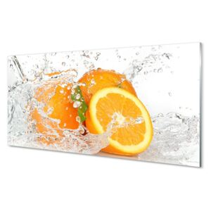 Glass print Oranges in water 100x50 cm