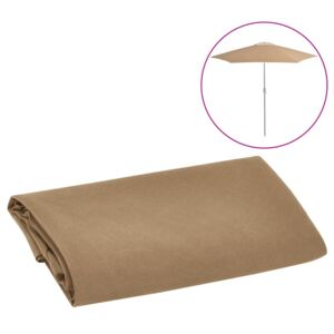 VidaXL Replacement Fabric for Outdoor Parasol Taupe 300 cm