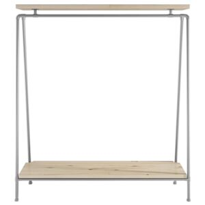 ZIITO SD - Tall clothes rack with two wooden shelves