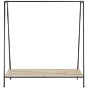 ZIITO SL - Tall clothes rack with wooden bottom shelf