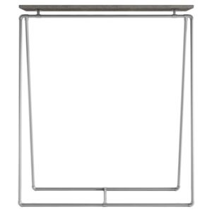 ZIITO ST - Tall clothes rack with wooden top shelf