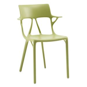 A.I Stackable armchair - / Designed by artificial intelligence by Kartell Green