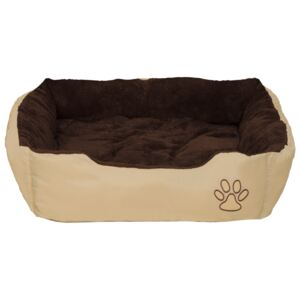 Tectake 401420 dog bed foxi made of polyester - 80 x 60 x 18 cm
