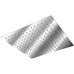 Tectake 401600 shower head square, stainless steel - 30 x 30 cm
