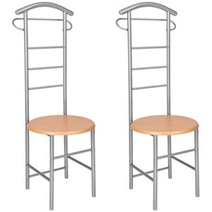 Tectake 402013 2 clothes racks valet stand - silver