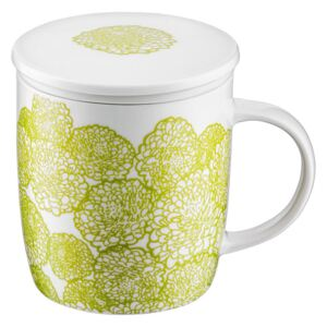 Mug with infuser and lid 390 ml flowers AMBITION