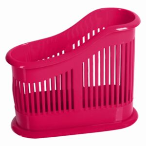 2-chamber cutlery drainer SOLEO, red