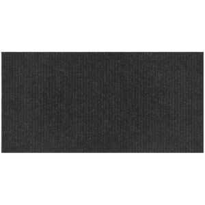 Synthetic Ribbed Coir Matting - Black