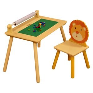 Jungle Writing Table with Construction Board