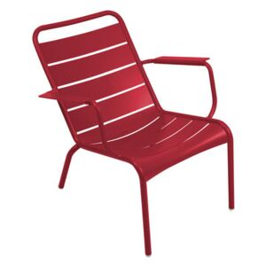 Luxembourg Low armchair by Fermob Red
