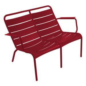 Luxembourg Duo Bench with backrest - 2 seaters by Fermob Red