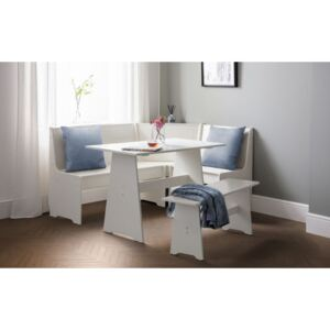 Newland Corner Dining Set With Bench - Surf White