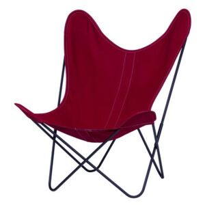 AA Butterfly OUTDOOR Armchair - Cloth / Black structure by AA-New Design Pink/Red