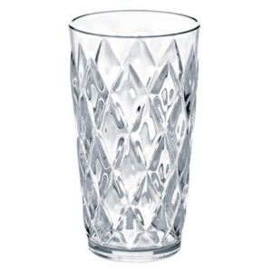 Crystal Long drink glass by Koziol Transparent