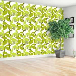 Wallpaper Pattern with leaves 104x70 cm