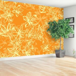 Wallpaper Pattern with flowers 104x70 cm