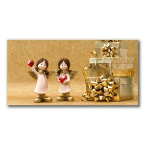 Canvas print Holy Angels Christmas Gifts fi 30 cm