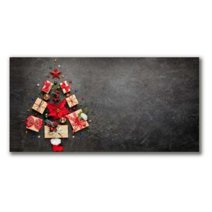 Canvas print Abstraction Christmas Gifts fi 30 cm