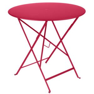 Bistro Foldable table - /Ø 77 cm - hole for parasol by Fermob Pink