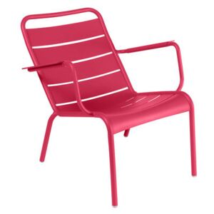 Luxembourg Low armchair - / Aluminium by Fermob Pink
