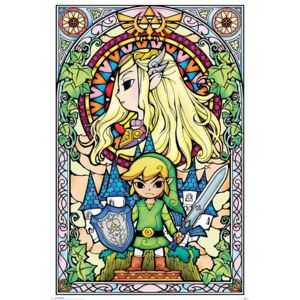 Poster Legend Of Zelda - Stained Glass, (61 x 91.5 cm)