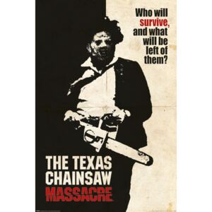 Poster Texas Chainsaw Massacre - Who Will Survive?, (61 x 91.5 cm)