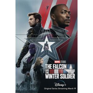 Poster The Falcon and the Winter Soldier - Stars and Stripes, (61 x 91.5 cm)