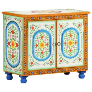Hand Painted Sideboard 70x35x60 cm Solid Mango Wood