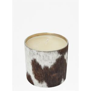 Natural Cowhide Candle - black/white